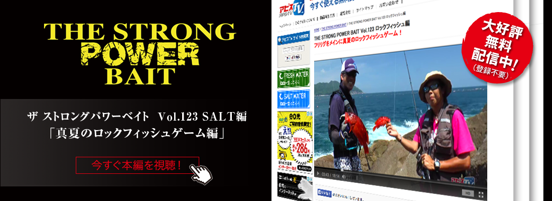 ストロングパワーベイト Vol123 ロックフィッシュ編