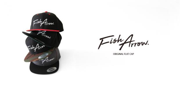 FishArrow NEWロゴ フラットキャップ