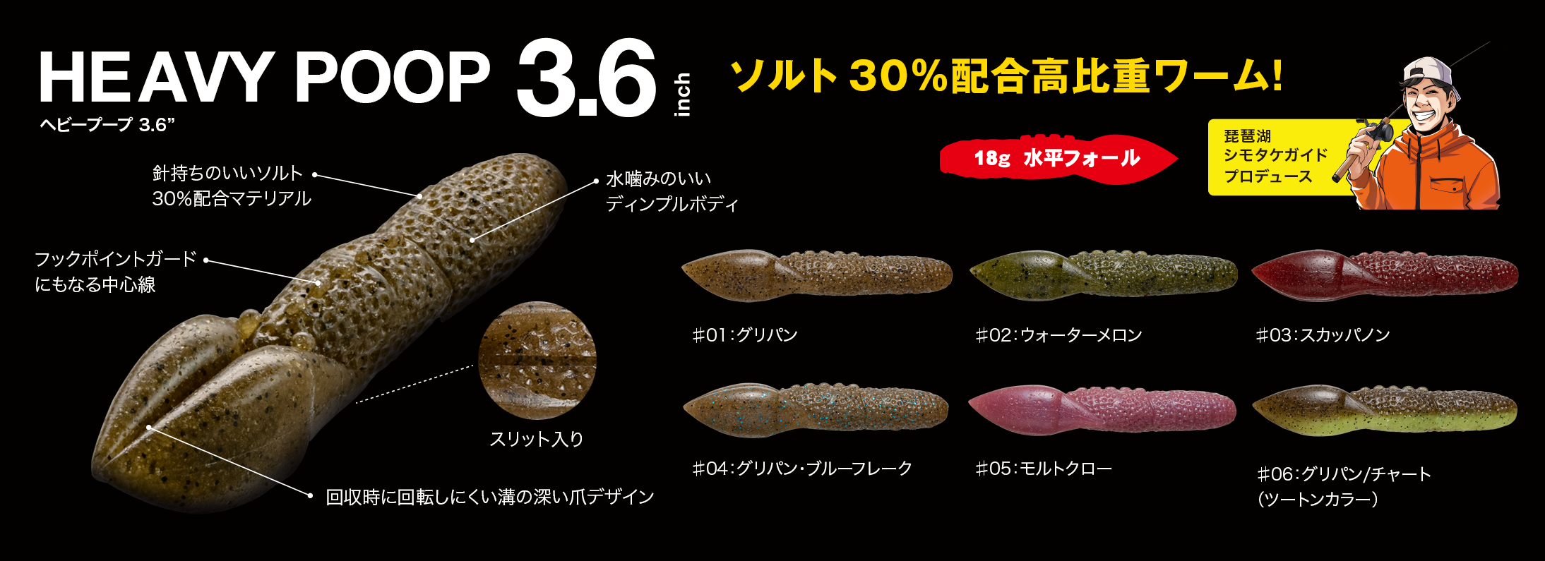 """ヘビープープ 3.6"""",HEAVY POOP 3.6″"""